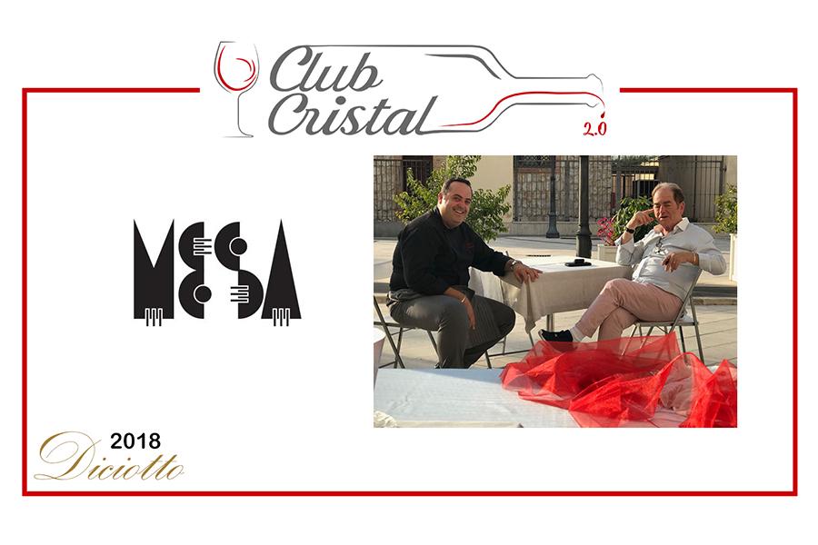 I due Chef insieme per il Club Cristal con i vini di MESA