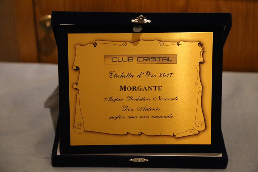 Etichetta d'Oro 2017 a Morgante, miglior produttore nazionale